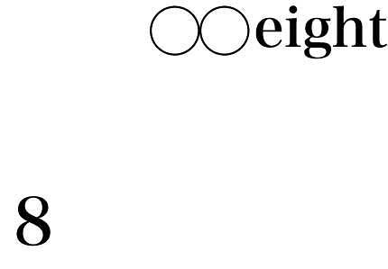 ◯◯ eight