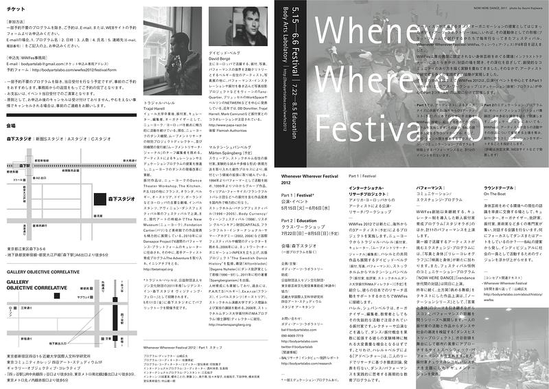 Whenever Wherever Festival 2012