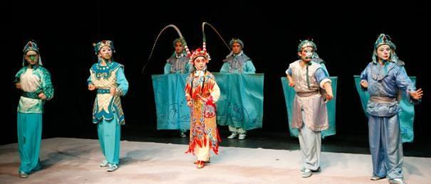 京劇・金魚と漁師