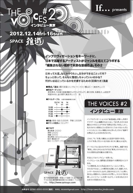 THE VOICES #2「インタビュー東京」