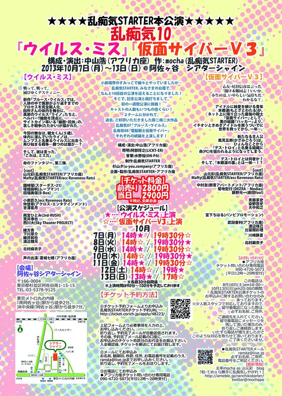 乱痴気10『ウイルス・ミス』『仮面サイバーV3』