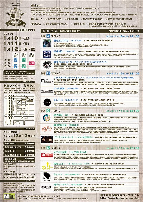 劇王 天下統一大会2015 東京予選