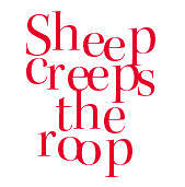 Sheep creeps the roop
