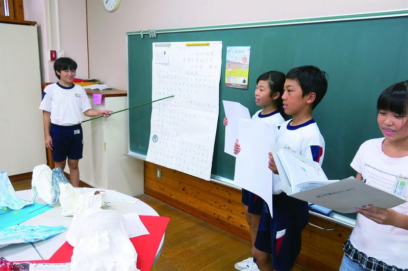 鹿野小学校6年生がプレゼンテーションに挑戦!