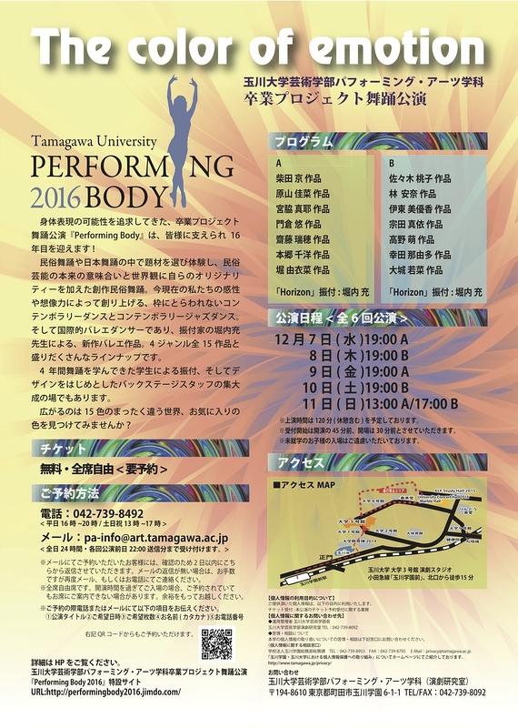 Performing body 2016