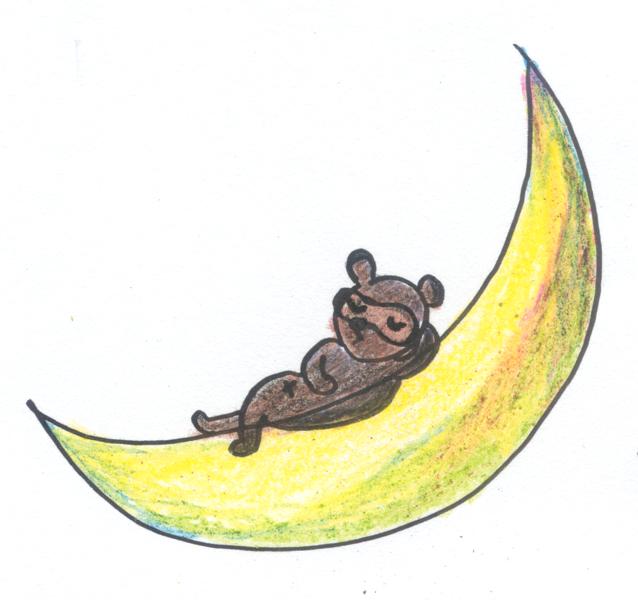 月とたぬき