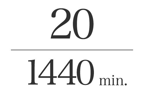20/1440min.