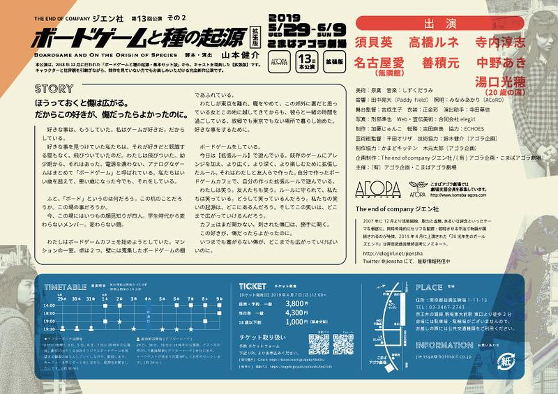 「ボードゲームと種の起源・拡張版」