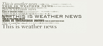 THIS IS WEATHER NEWS