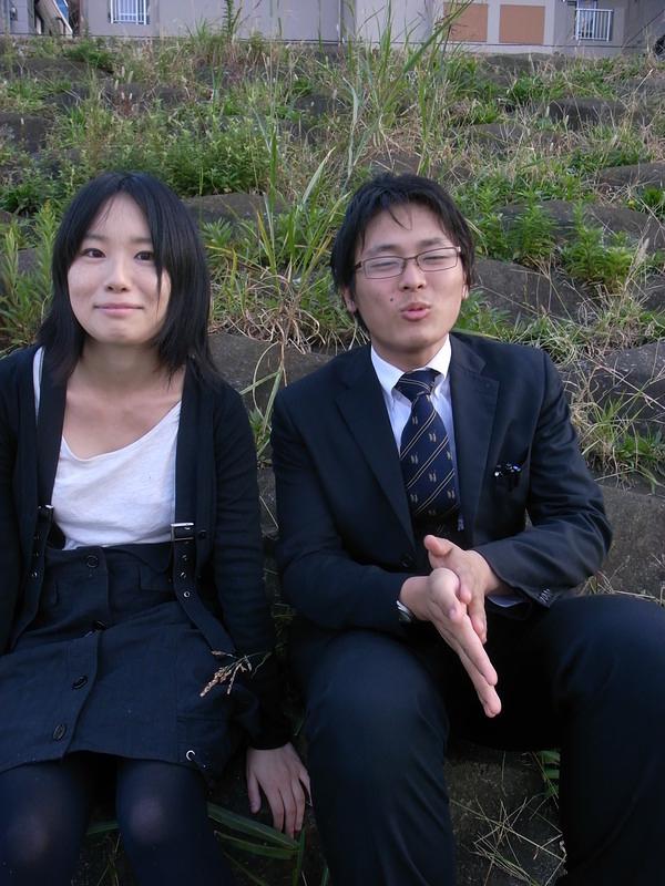 多摩川の二人