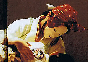 童子丸(後の晴明)byHALを寝かしつける葛の葉狐byMARIA