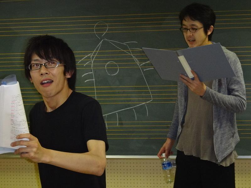 練習風景1(本読み)