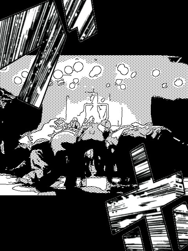 漫画風「円陣」