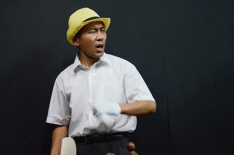 スタジオ稽古・山村鉄平