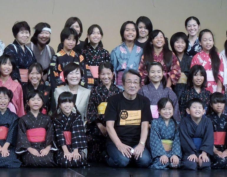 安倍昭恵さんが稽古場へ来てくださいました。