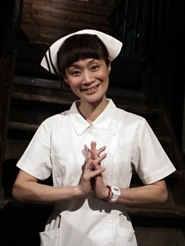貴重な池田美樹さん(劇団きらら)のナース姿