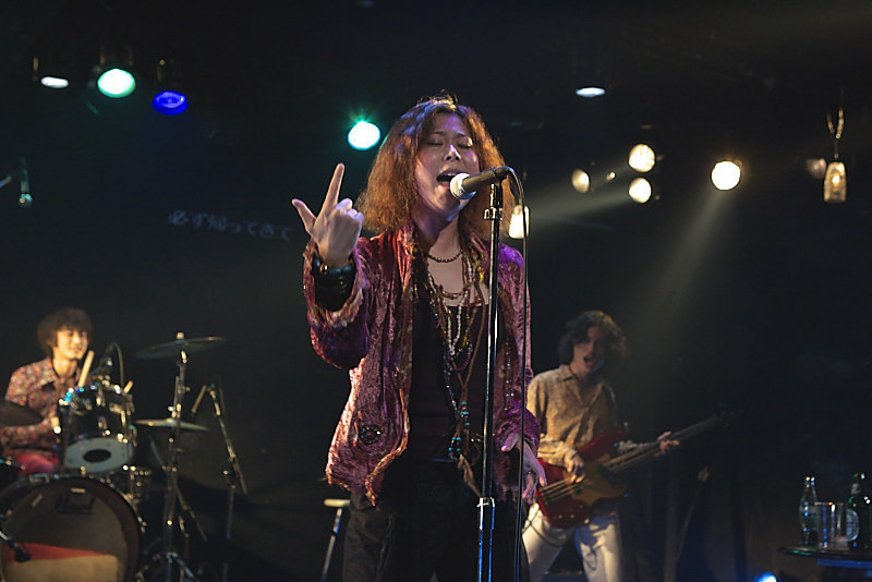 Janis on stage
