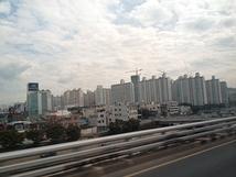 第21回韓国公演 大邱の車窓から