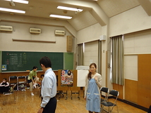 稽古場にて