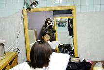 岡田あがさ一人芝居楽屋写真