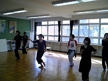 踊り子稽古風景