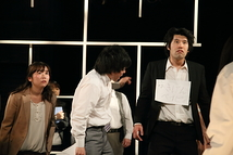 左から/石垣エリィ、熊木拓矢、岡教寛