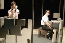 雨のにおい初演(2005年6月駅前劇場 撮影:青木司)