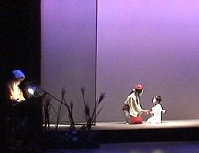 童子丸(後の晴明)byHALに説教する葛の葉狐byMARIA