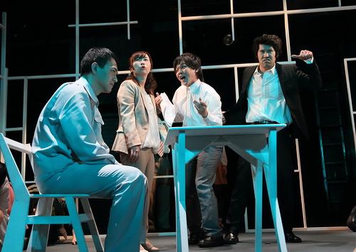 (左から)田中智也、石垣エリィ、熊木拓矢、岡教寛