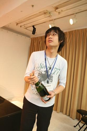 主宰中條岳青2008年テアトロ新人戯曲賞佳作 受賞パーティでのオフショット